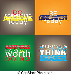 Set Of Motivational Quotes. - Set Of Typographic...