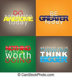 Set Of Motivational Quotes. - Set Of Typographic...