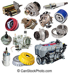 Set of motor and automotive parts