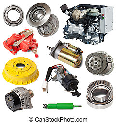 Set of motor and few automotive parts