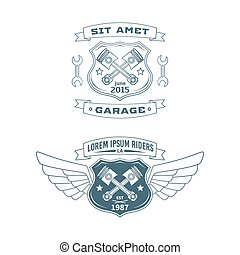 Set of Motor vector badges