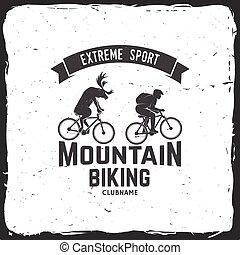 Set of Mountain biking clubs. Vector illustration.