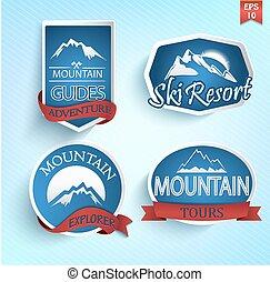 Set of mountain icon