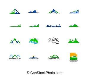 Set of Mountains Logo Design Vector Template