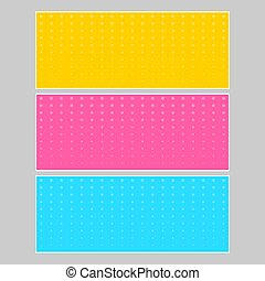 Halftone comic template with place for your text