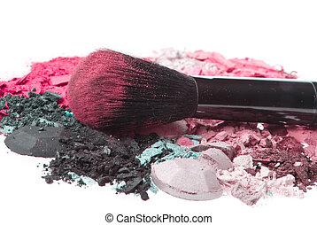 set of multicolor crushed eyeshadows - crushed eyeshadows...