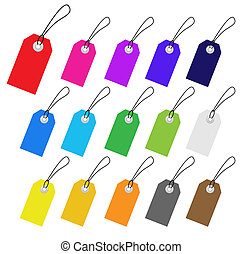 Set of multicolored vector tags for marketing design....
