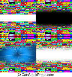 set of multimedia abstraction of web icons 11.06.13