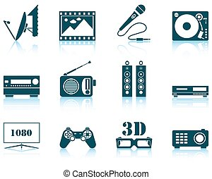 Set of multimedia icon