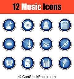Set of musical icons.
