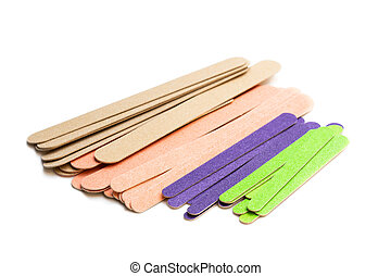 Set of nail files isolated on white