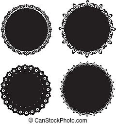 Set of vector napkin icons for scrapbook