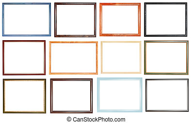 set of narrow simple picture frames