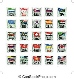 set of national stamps 06