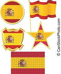 set of national subjects Spain