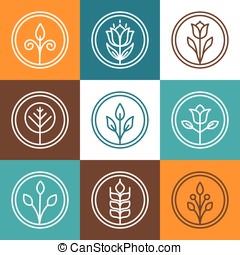 Set of nature badges