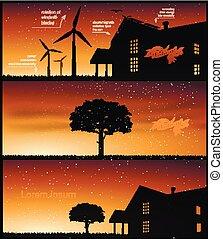 nature banner for facebook Poster vector Design