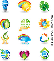 Set of nature design elements - Set of design elements....