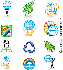 Set of nature design icons
