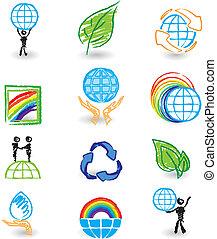 Set of nature design icons