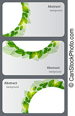 Set of nature gift cards. Vector illustration