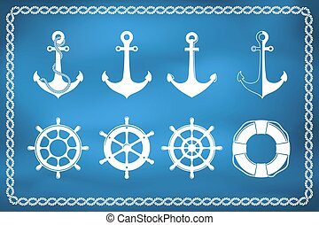 Set of nautical and marine icons