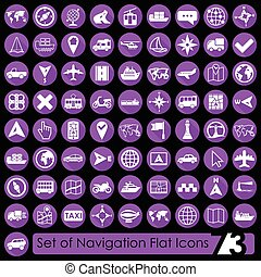 Set of navigation icons