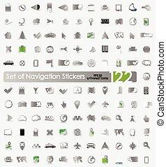 Set of navigation stickers