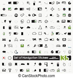 Set of navigation stickers