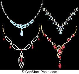 set of necklace women