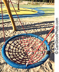 Set of net crawl constructions on kids playground