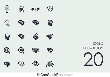 Set of neurology icons - neurology vector set of modern ...