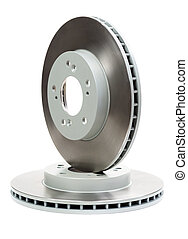 Set of new brake discs for the car