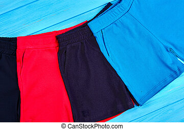 Set of new cotton shorts for toddlers.