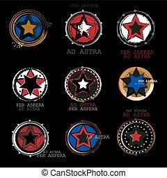 Set of new modern logos STARS