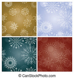 set of New Year's backgrounds with