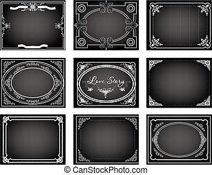 silent movie title frames - Set of nine old silent movie ...