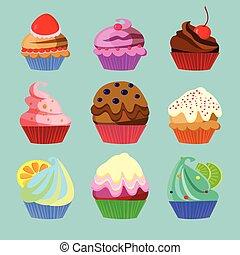 Set of nine sweets
