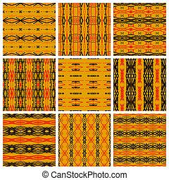 Set of nine tribal patterns
