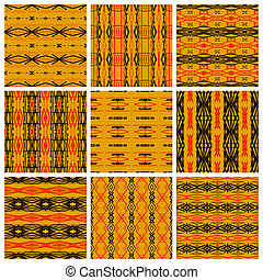Set of nine tribal patterns