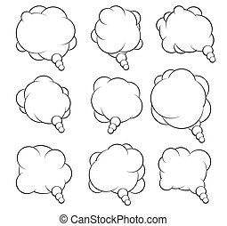 Set of nine vector talking bubbles for your design.