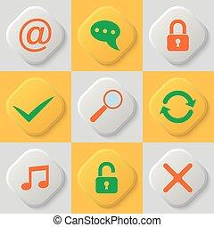 Set of nine web icons