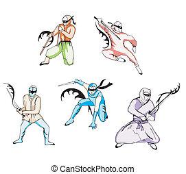 Set of ninjas