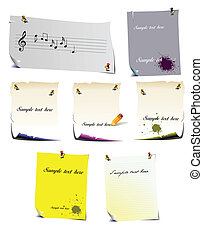 Set of note pages