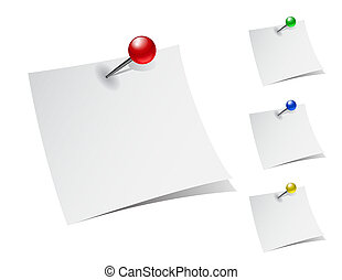 note papers with push pins