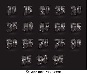 Set of number 3D vector