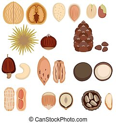 Set of nuts.