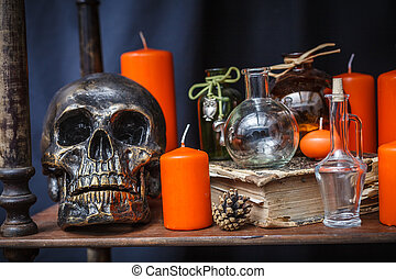 Set of objects to celebrate halloween