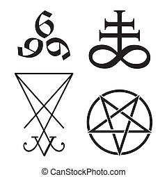Set of occult symbols vector illustration - Set of occult...