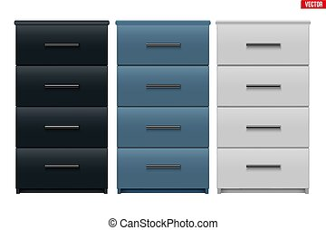 Set of Office Cabinet with drawers